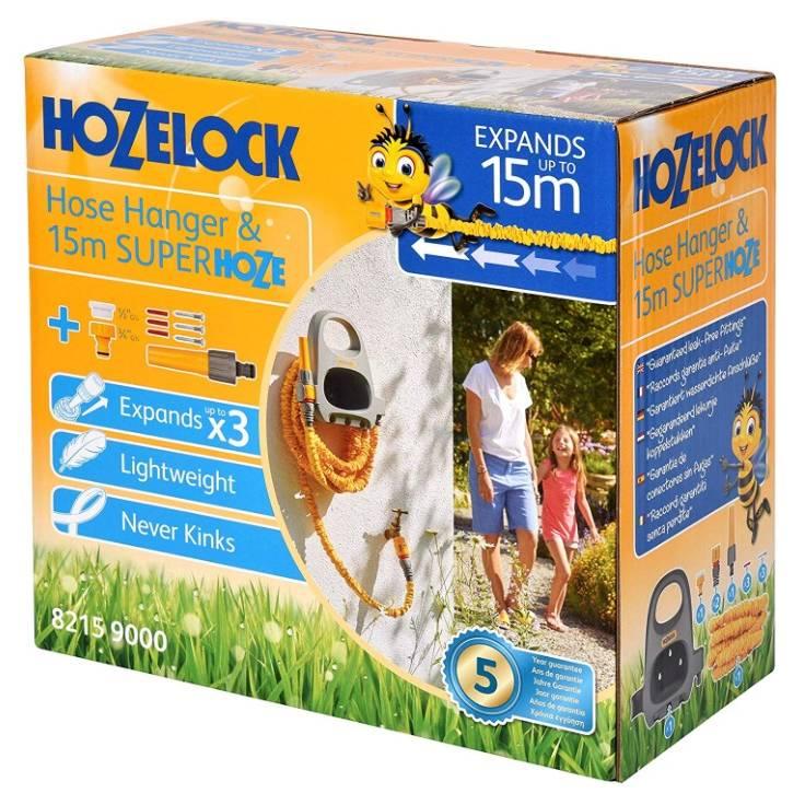 Hozelock 15m Superhoze & Hose Hanger Set (8215)