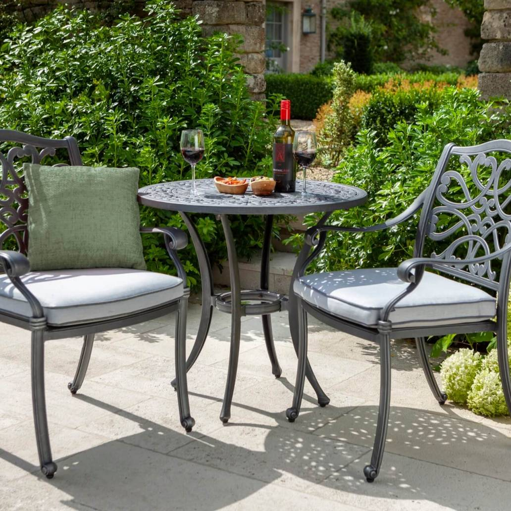 Capri Bistro Set - Antique Grey/Platinum