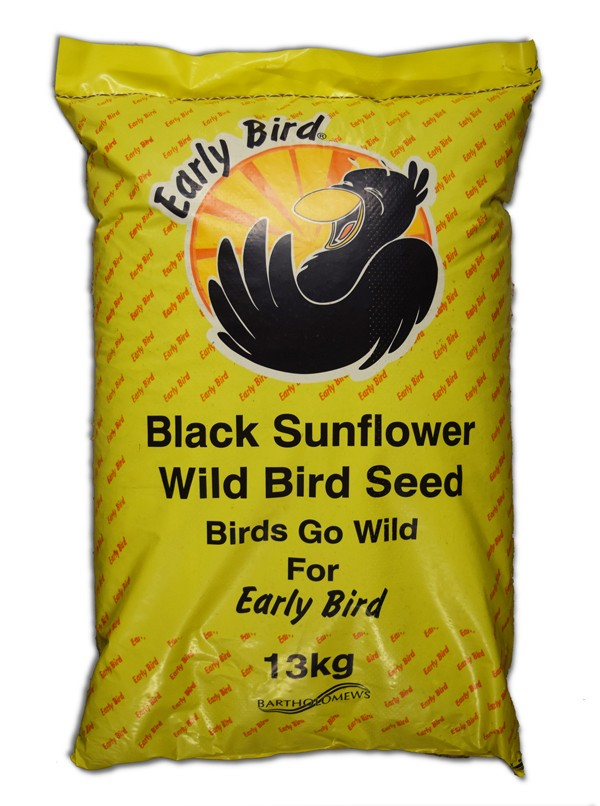 Bartholomews Early Bird Black Sunflower Bird Seed - 13kg