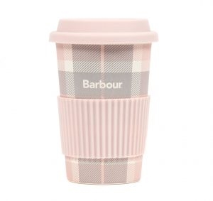 Barbour Tartan Travel Mug - Pink