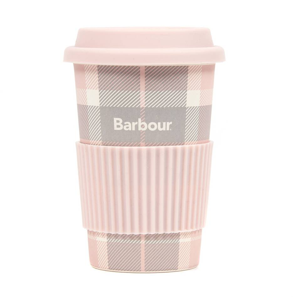 Barbour Tartan Travel Mug - Pink