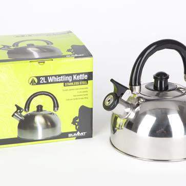 2.0L Stainless Steel Whistling Kettle W/Plastic Handle
