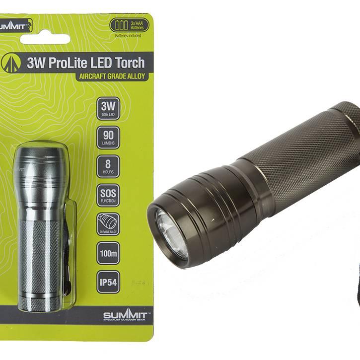 Summit 3w ProLite LED Torch 90 lumen