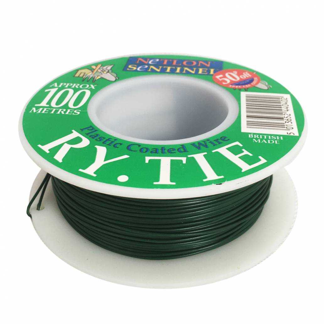 Netlon Plastic Coated Garden Wire 100m