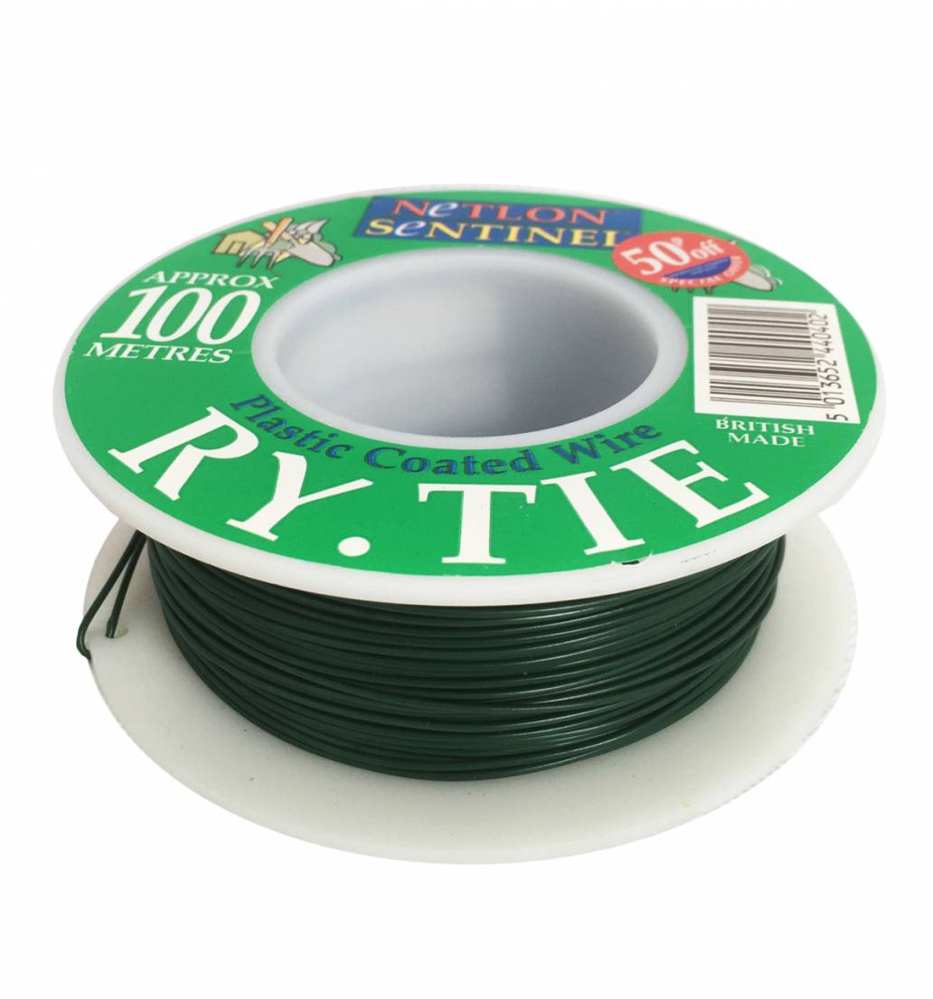 Netlon Plastic Coated Garden Wire 100m