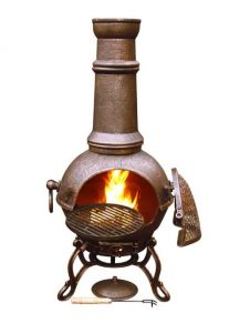 Gardeco Large Toledo Chimenea - Bronze