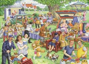 HOP Jigsaw The Brookfield Collection Car Boot Sale 1000 piece