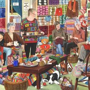 HOP Jigsaw The Dellavaird Collection Knit & Natter 1000 piece