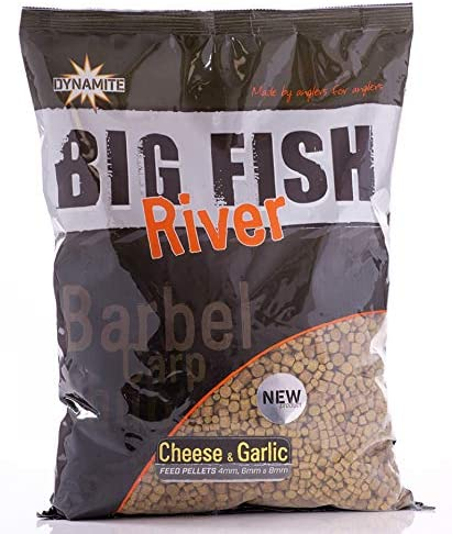 Big Fish Feed Pellet 4,6,8 mm, Cheese & Garlic 1.8kg