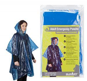"""Summit Adult Emergency Poncho 50X80"""""""