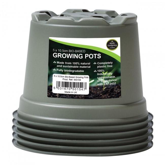 Garland 10.5cm Bio-Based Growing Pots (5)