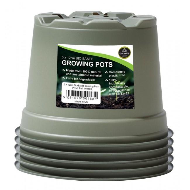 Garland 12cm Bio-Based Growing Pots (5)