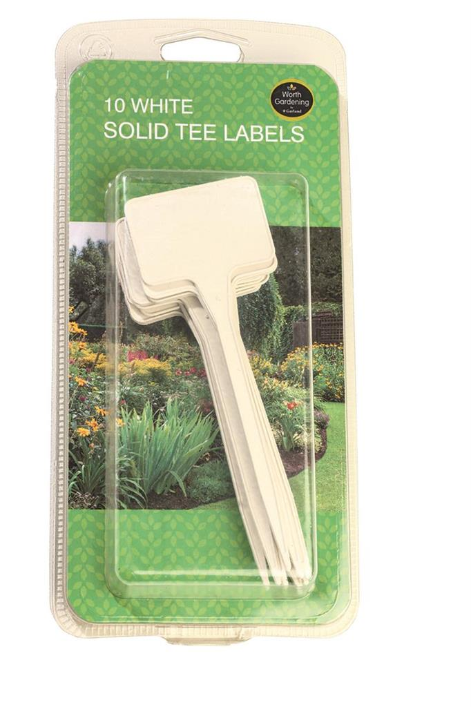 Garland White Solid Tree Labels (10)