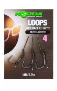 Korda Loops Wide Gape X Size 4 Micro Barbed