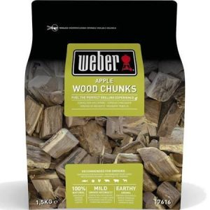 Weber Apple Wood Chunks 1.5kg 17616