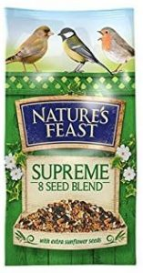 Natures Feast Supreme 8 Seed Blend 1.75kg +25% Extra Free