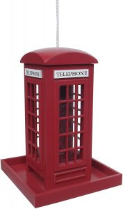 Heritage Telephone Box Bird Feeder