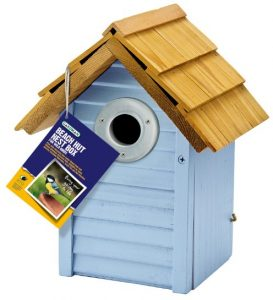 Gardman Beach Hut Nest Box Blue Fsc