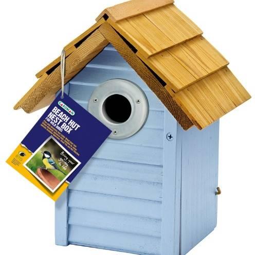 Gardman Beach Hut Nest Box Blue Fsc