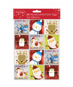 24 Self Adhesive Gift Tags - Cute