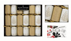 6 Deluxe Gold Tree Crackers