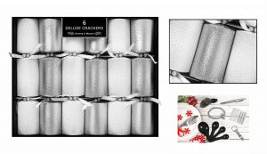 6 Deluxe Silver Scatter Crackers