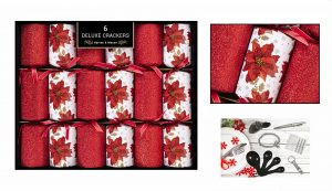 6 Deluxe Poinsettia Crackers