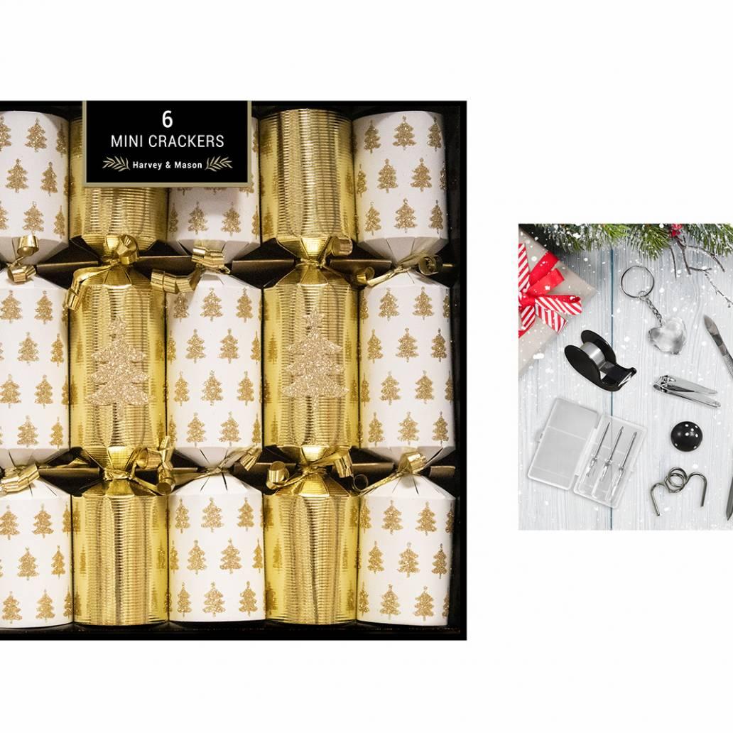6 Mini Gold Tree Crackers 8.5