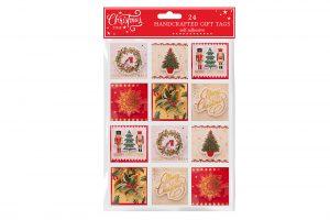 24 Self Adhesive Gift Tags - Traditional