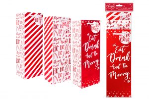 Bottle Gift Bags Red X 3