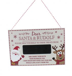 Festive 30cm White Wooden Personalised Sign To Santa