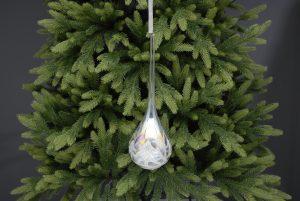 Festive 24cm Glass Iridescent Teardrop