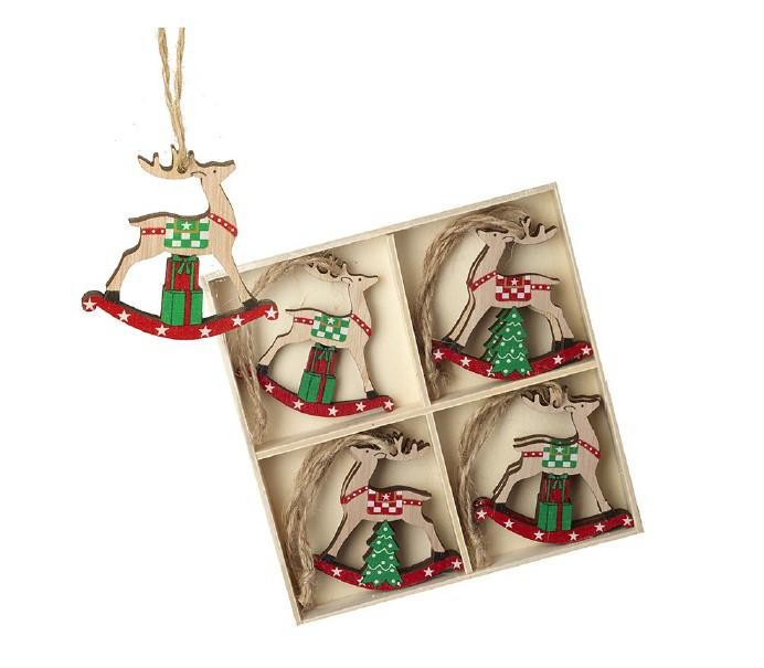 Heaven Sends Wooden Hanging Rocking Deers Set