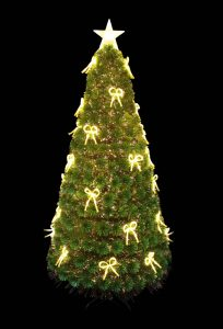 Mercer 5' Fibre-Optic Green Tree With Tied Bows