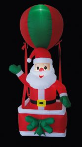 Premier 2.1m Inflatable Santa in Hot Air Balloon