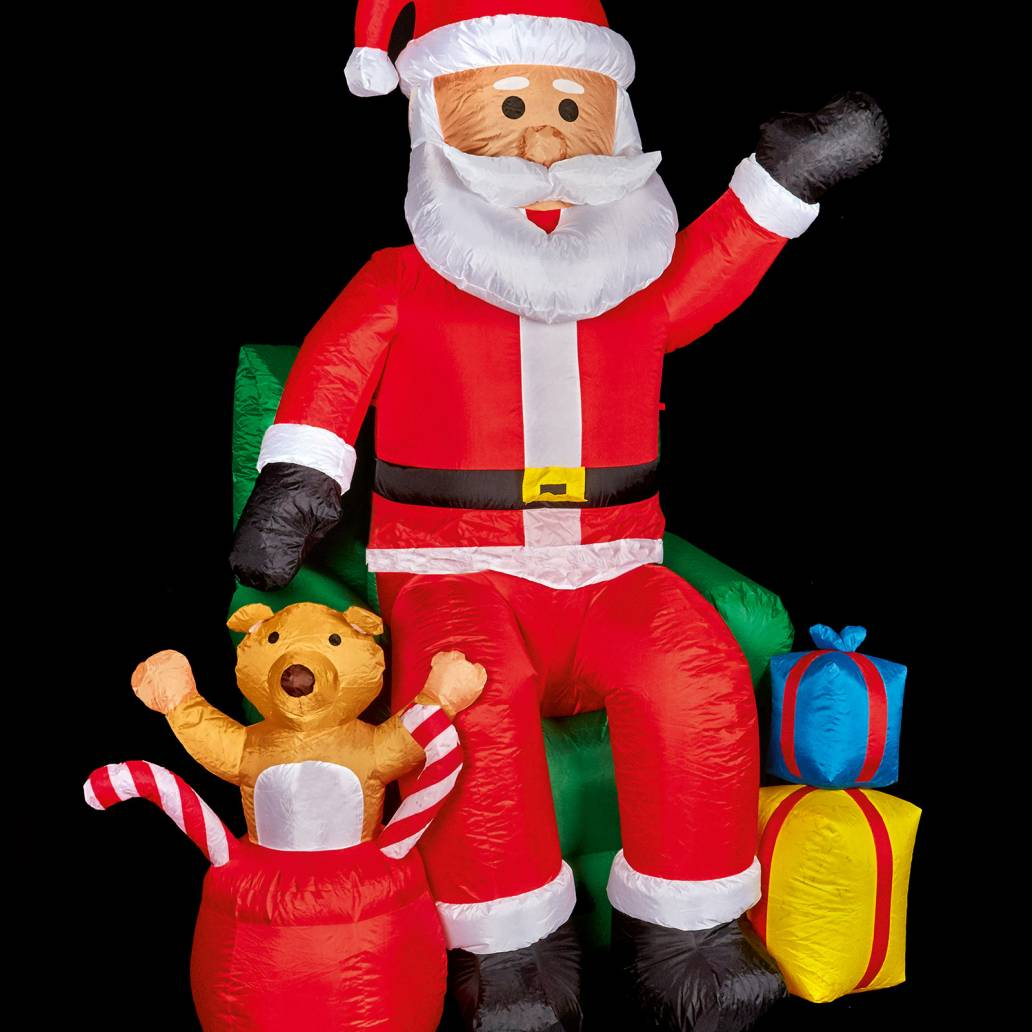 Premier 2.4m Inflatable Santa in Chair