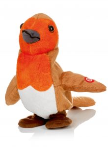 Premier 22cm Animated Singing Rocking Robin