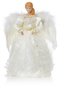 Premier 30cm Ivory Chiffon Dress Angel with Feather Wings