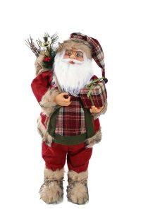 Mercer 60cm Tartan Santa With Present & Sack