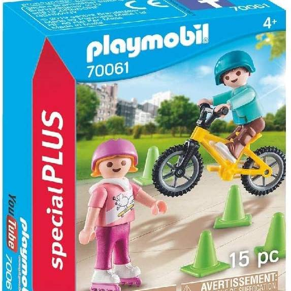 Playmobil 70061 Special Plus Children with Bike & Skates