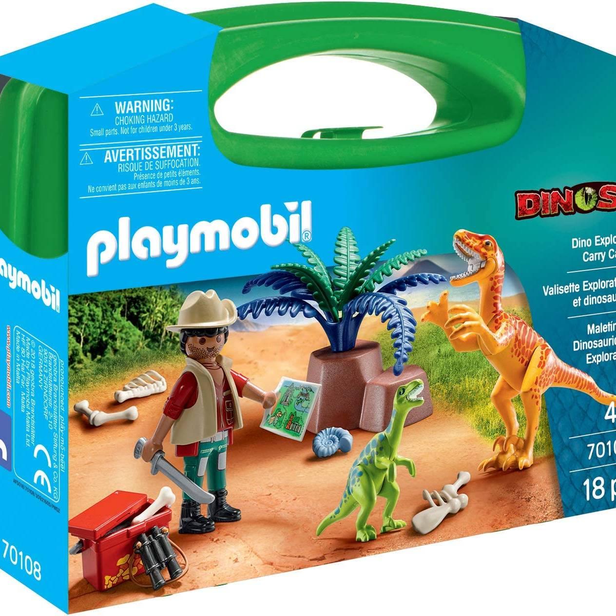 Playmobil 70108 Large Dino Explorer Carry Case