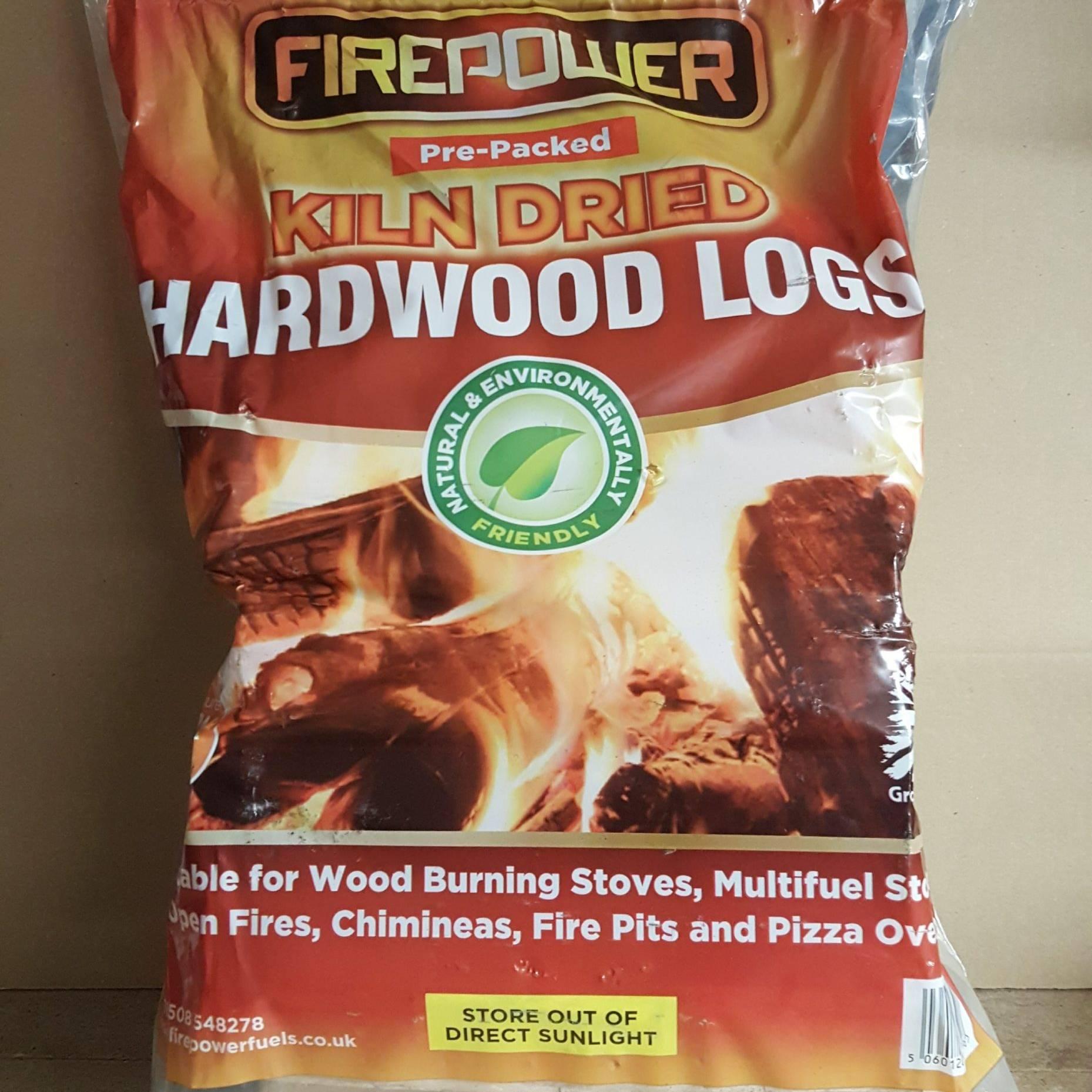 Pre-Packed Bag of Kiln Dried Hardwood Logs