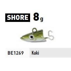 Fiiish Black Eel 2 Jigheads Shore - 8g - Khaki