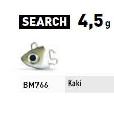 Fiiish Black Eel 2 Jigheads Search - 4.5g - Khaki