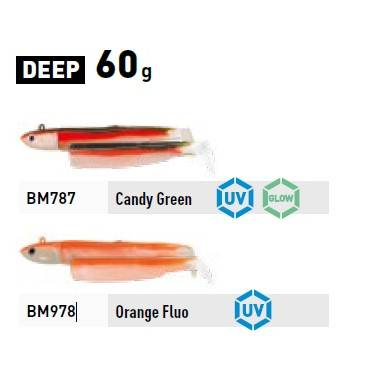 Fiiish Black Minnow Combo No.4 - Deep - 60g - 1 Lure + 1 Body Orange Fluor