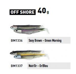 Fiiish Black Minnow No.4 Double Combo - Off Shore - 40g -  Black/Gold & Blue/Gold