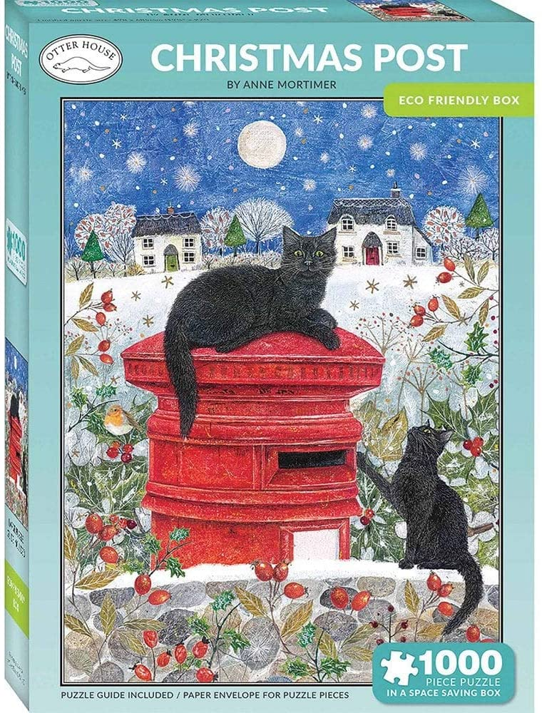 Otter House Jigsaw Rectangular - Christmas Post (P)