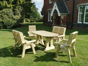 POPPY SET 2 -  2 CHAIRS + 2 BENCHES - SEATS 6