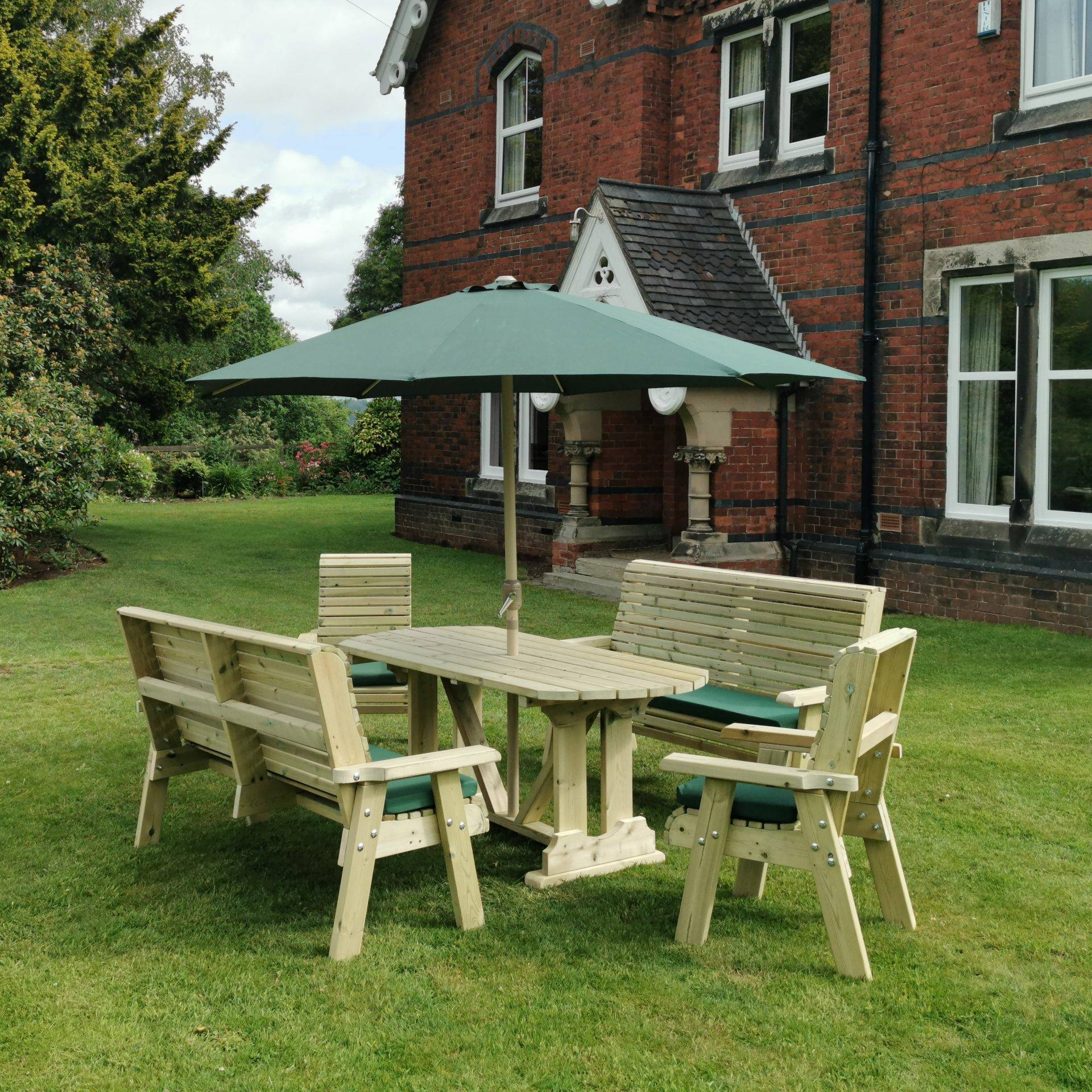 POPPY SET 4 -  2 CHAIRS + 2 BENCHES - SEATS 8