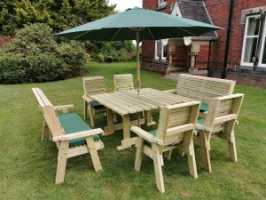 POPPY SET 9 -  4 CHAIRS + 2 BENCHES - SEATS 10 *HD*